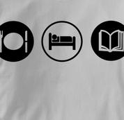Reading T Shirt Eat Sleep Play GRAY Obsession T Shirt Eat Sleep Play T Shirt