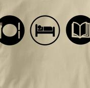 Reading T Shirt Eat Sleep Play TAN Obsession T Shirt Eat Sleep Play T Shirt
