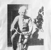 Bicycle T Shirt Albert Einstein WHITE Cycling T Shirt Science T Shirt Albert Einstein T Shirt