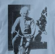 Bicycle T Shirt Albert Einstein BLUE Cycling T Shirt Science T Shirt Albert Einstein T Shirt