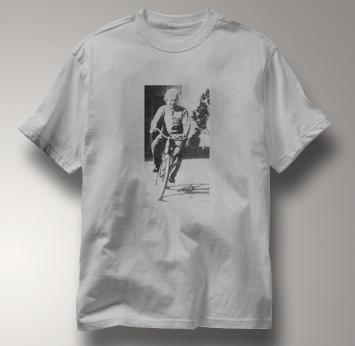 Bicycle T Shirt Albert Einstein GRAY Cycling T Shirt Science T Shirt Albert Einstein T Shirt