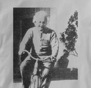 Bicycle T Shirt Albert Einstein GRAY Cycling T Shirt Science T Shirt Albert Einstein T Shirt