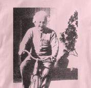 Bicycle T Shirt Albert Einstein PINK Cycling T Shirt Science T Shirt Albert Einstein T Shirt