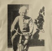 Bicycle T Shirt Albert Einstein TAN Cycling T Shirt Science T Shirt Albert Einstein T Shirt