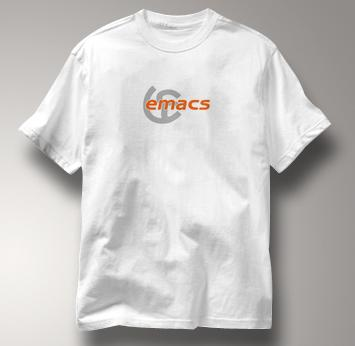 Emacs T Shirt Unix Editor Wiki WHITE Computer T Shirt Unix Editor Wiki T Shirt Geek T Shirt