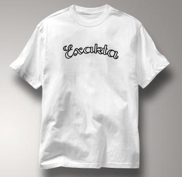 Exakta Camera T Shirt Vintage Logo WHITE Vintage Logo T Shirt