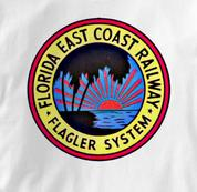 Florida East Coast T Shirt FEC Flagler System WHITE Railroad T Shirt Train T Shirt FEC Flagler System T Shirt
