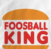 Foosball T Shirt King WHITE Foosball King T Shirt