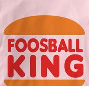 Foosball T Shirt King PINK Foosball King T Shirt