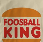 Foosball T Shirt King TAN Foosball King T Shirt