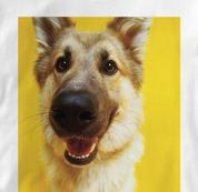 German Shepherd T Shirt Portrait WHITE Dog T Shirt Portrait T Shirt