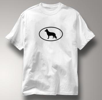 German Shepherd T Shirt Oval Profile WHITE Dog T Shirt Oval Profile T Shirt