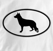 German Shepherd T Shirt Oval Profile WHITE Dog T Shirt Oval Profile T Shirt