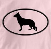 German Shepherd T Shirt Oval Profile PINK Dog T Shirt Oval Profile T Shirt