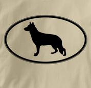 German Shepherd T Shirt Oval Profile TAN Dog T Shirt Oval Profile T Shirt