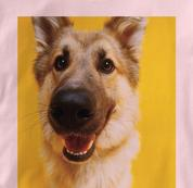 German Shepherd T Shirt Portrait PINK Dog T Shirt Portrait T Shirt