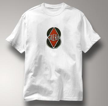 Gilera Motorcycle T Shirt Vintage Logo WHITE Italian Motorcycle T Shirt Vintage Logo T Shirt