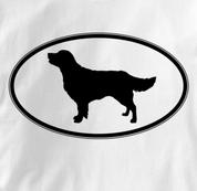 Golden Retriever T Shirt Oval Profile WHITE Dog T Shirt Oval Profile T Shirt