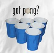 Beer Pong T Shirt Got Pong WHITE Beer T Shirt Got Pong T Shirt