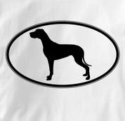 Great Dane T Shirt Oval Profile WHITE Dog T Shirt Oval Profile T Shirt