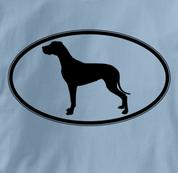 Great Dane T Shirt Oval Profile BLUE Dog T Shirt Oval Profile T Shirt