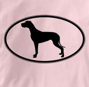 Great Dane T Shirt Oval Profile PINK Dog T Shirt Oval Profile T Shirt