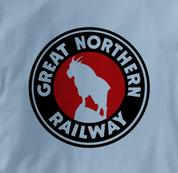 Great Northern Railway T Shirt Logo BLUE Railroad T Shirt Train T Shirt Logo T Shirt