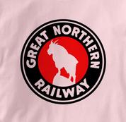 Great Northern Railway T Shirt Logo PINK Railroad T Shirt Train T Shirt Logo T Shirt