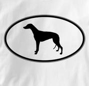 Greyhound T Shirt Oval Profile WHITE Dog T Shirt Oval Profile T Shirt