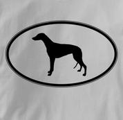 Greyhound T Shirt Oval Profile GRAY Dog T Shirt Oval Profile T Shirt