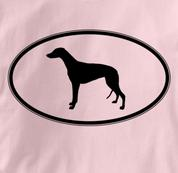 Greyhound T Shirt Oval Profile PINK Dog T Shirt Oval Profile T Shirt
