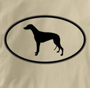 Greyhound T Shirt Oval Profile TAN Dog T Shirt Oval Profile T Shirt