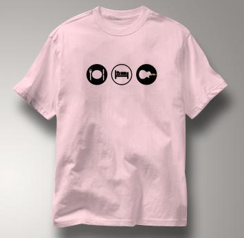 Guitar Hero T Shirt Eat Sleep Play PINK Obsession T Shirt Guitar T Shirt Gear T Shirt Eat Sleep Play T Shirt