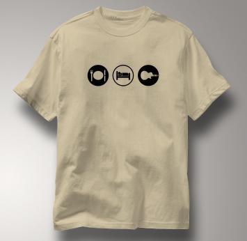 Guitar Hero T Shirt Eat Sleep Play TAN Obsession T Shirt Guitar T Shirt Gear T Shirt Eat Sleep Play T Shirt