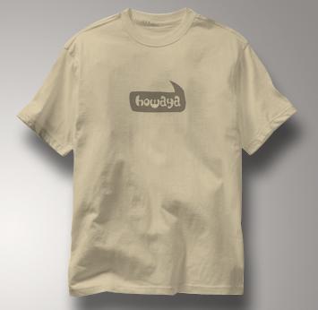 Howaya T Shirt TAN Peace T Shirt