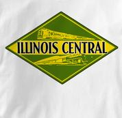 Illinois Central Railroad T Shirt Vintage WHITE Train T Shirt Vintage T Shirt