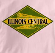 Illinois Central Railroad T Shirt Vintage PINK Train T Shirt Vintage T Shirt