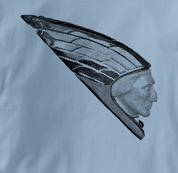 Indian Motorcycle T Shirt Vintage Mudguard BLUE Vintage Mudguard T Shirt