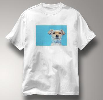Jack Russell Terrier T Shirt Portrait WHITE Dog T Shirt Portrait T Shirt