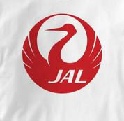 Japan Airlines T Shirt WHITE JAL T Shirt Aviation T Shirt