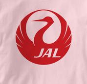 Japan Airlines T Shirt PINK JAL T Shirt Aviation T Shirt