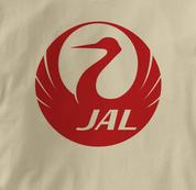 Japan Airlines T Shirt TAN JAL T Shirt Aviation T Shirt
