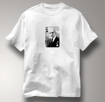 Poker T Shirt WHITE Texas Holdem T Shirt Kojak T Shirt