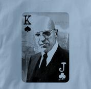 Poker T Shirt BLUE Texas Holdem T Shirt Kojak T Shirt