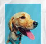 Labrador Retriever T Shirt Portrait WHITE Dog T Shirt Portrait T Shirt