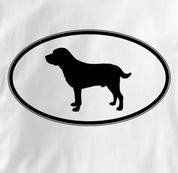 Labrador Retriever T Shirt Oval Profile WHITE Dog T Shirt Oval Profile T Shirt