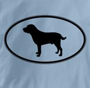 Labrador Retriever T Shirt Oval Profile BLUE Dog T Shirt Oval Profile T Shirt