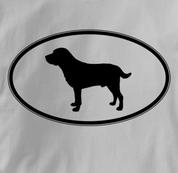 Labrador Retriever T Shirt Oval Profile GRAY Dog T Shirt Oval Profile T Shirt
