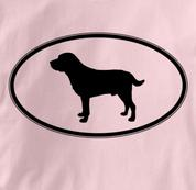 Labrador Retriever T Shirt Oval Profile PINK Dog T Shirt Oval Profile T Shirt
