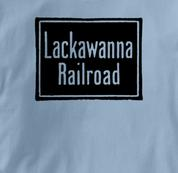 Lackawanna Railroad T Shirt Vintage BLUE Train T Shirt Vintage T Shirt